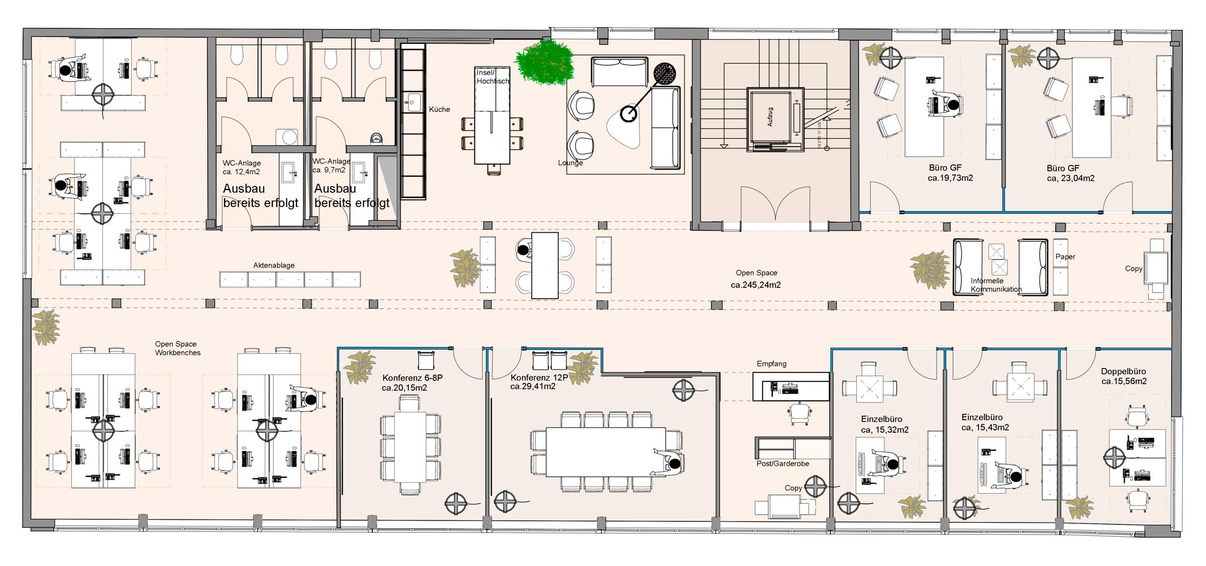 moderne b rokonzepte grundriss neuesten. Black Bedroom Furniture Sets. Home Design Ideas